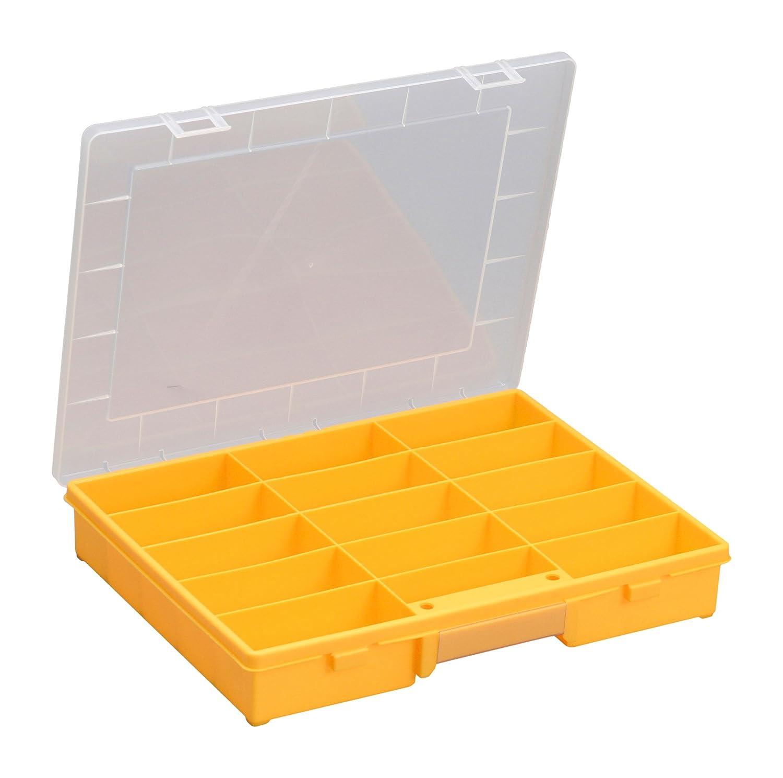 Allit 457430 Sortimentskasten Sortierkasten Schwarz Gelb Transparent 1 Stuck Amazonde Baumarkt