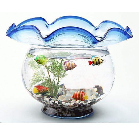 rosenice flotante de plástico pescado pescado 10pcs Artificial Adorno de movimiento de peces decoración para acuario: Amazon.es: Hogar