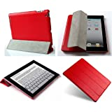 "Invision® iPad 2 iPad 3 & iPad 4 Smart Case Cover, Superior Design Features, Magnetic Auto Wake/Sleep Function, Quality PU Leather, Recommended by ""Which?"" Magazine (iPad 2 3 4 Red)"