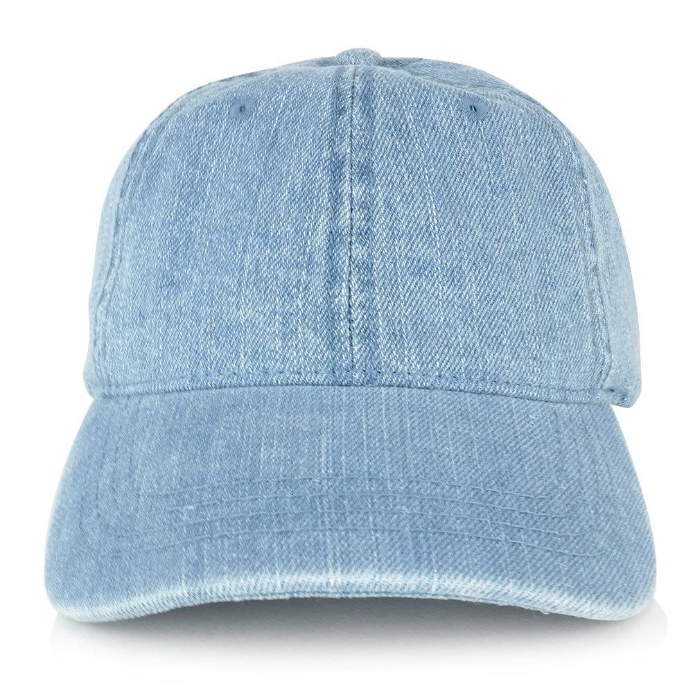 a057d712895 MEG Low Profile Unstructured Denim Garment Washed Baseball Cap (One Size