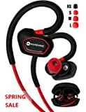 Bluetooth Earbuds. SoundWhiz Spark Best Wireless Earbuds. Stable Fit For Running, Cycling, Gym, Yoga, Fitness. Wireless Headset with Mic.