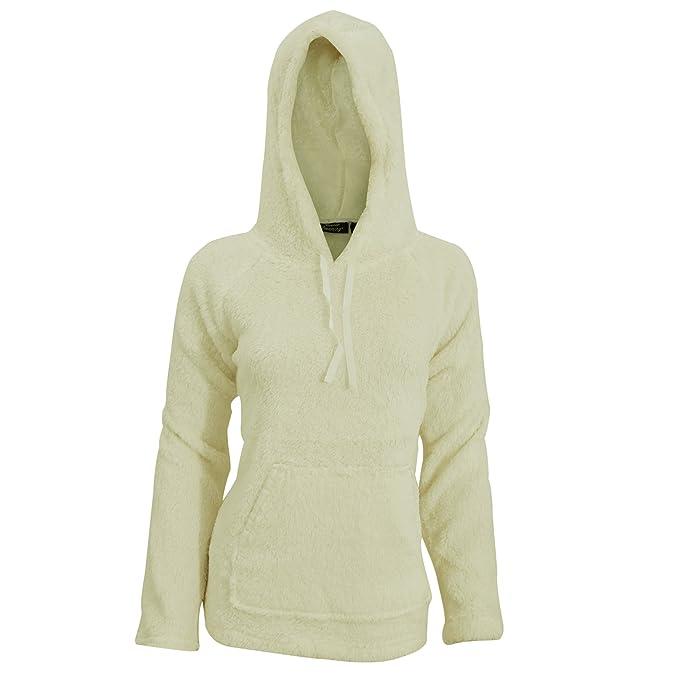 Sudadera de Pijama Polar Suave con Capucha y Bolsillo para Mujer (Mediana (M)