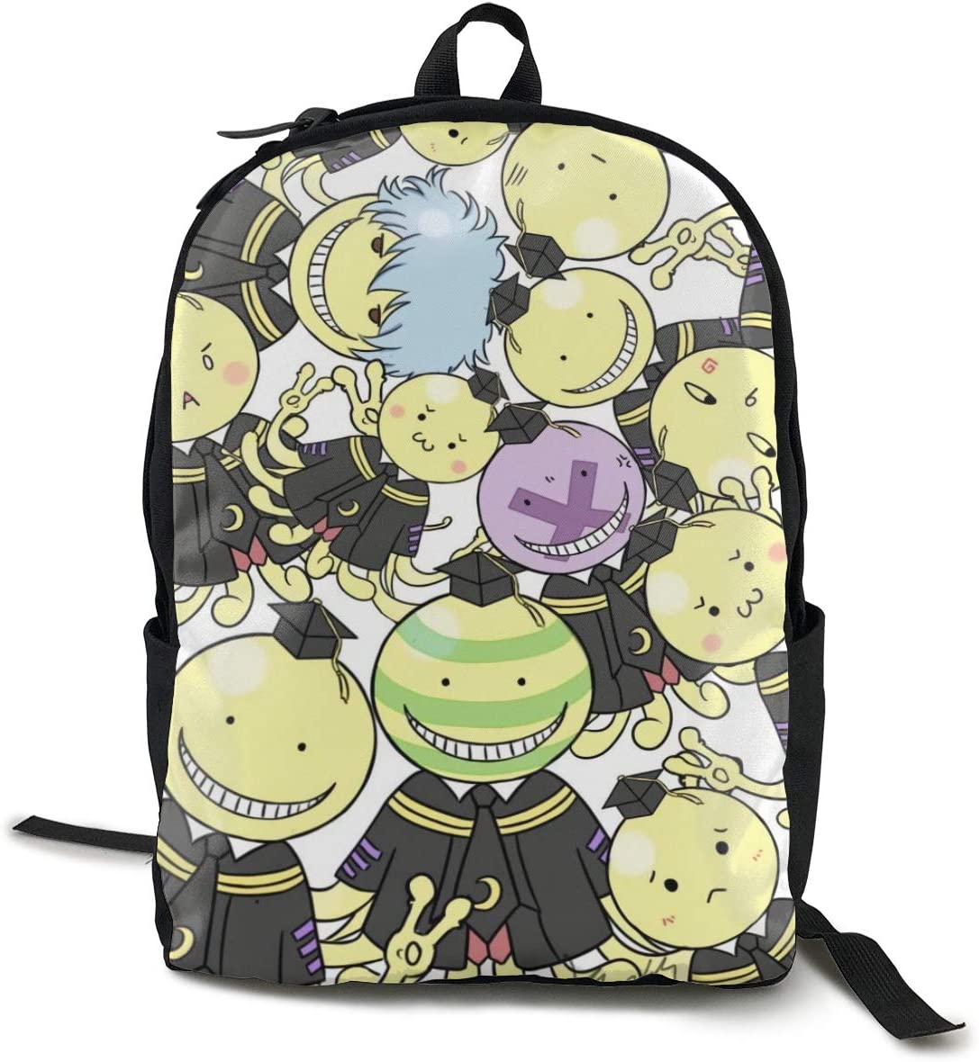 Assassination Classroom Canvas Unisex Unique Student Backpack Lightweight Travel Daypacks Laptop Backpack