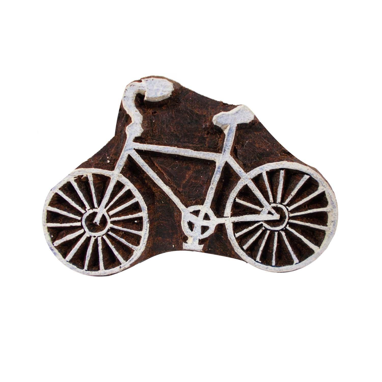 Bicycle Pattern Textile Printing Block Clay Potter Craft Heena Tattoo Scrapbook Stamps