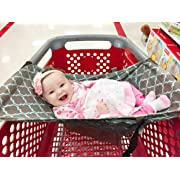 Shopping Cart Hammock for Baby 0-6 Month, Compatible with Car Seat, Portable Baby Shopping Cart Cover for Infant who can't Sit Up