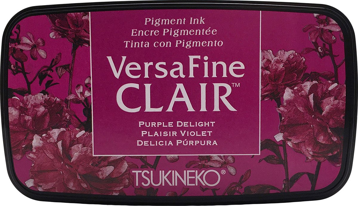 Tsukineko Delight VersaFine Almohadilla de Tinta Clair, Material sintético, Color Morado, 5,6x 9.7x 2.3cm VF-CLA-101