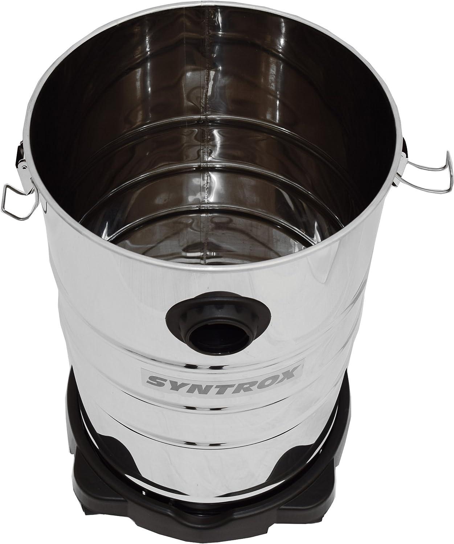 Syntrox Germany Aspirateur industriel 30 l en acier inoxydable avec prise Taifun