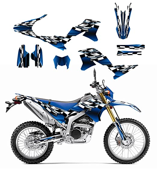 Amazon com yamaha wr250r or wr250x graphics decal kit 2007 2014 by allmotorgraphics no2500 blue automotive