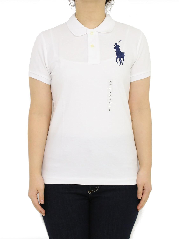 (ポロ ラルフローレン) POLO Ralph Lauren レデイース スキニーフィット 無地 ビッグポニー刺繍 ポロシャツ ワンポイン 0105576 [並行輸入品] B07CY2MYNZ US M (日本L相当)|ホワイト ホワイト US M (日本L相当)