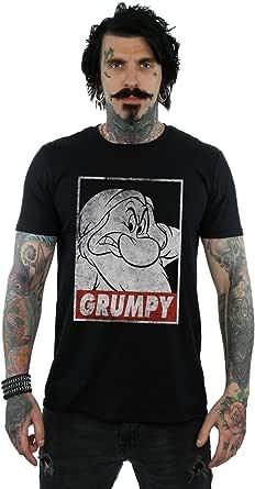 Disney Hombre Snow White Grumpy Dwarf Poster Camiseta