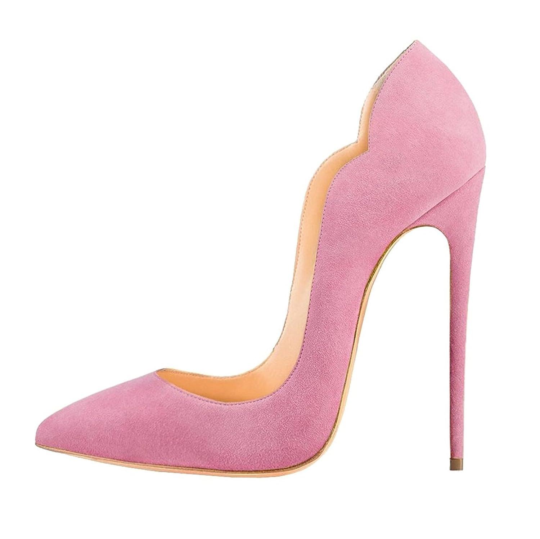 EDEFS Damen High Heels   Stiletto Spitzer Schuhe   12cm Schwarzen Pumps   Bequeme Hochzeitsschuhe
