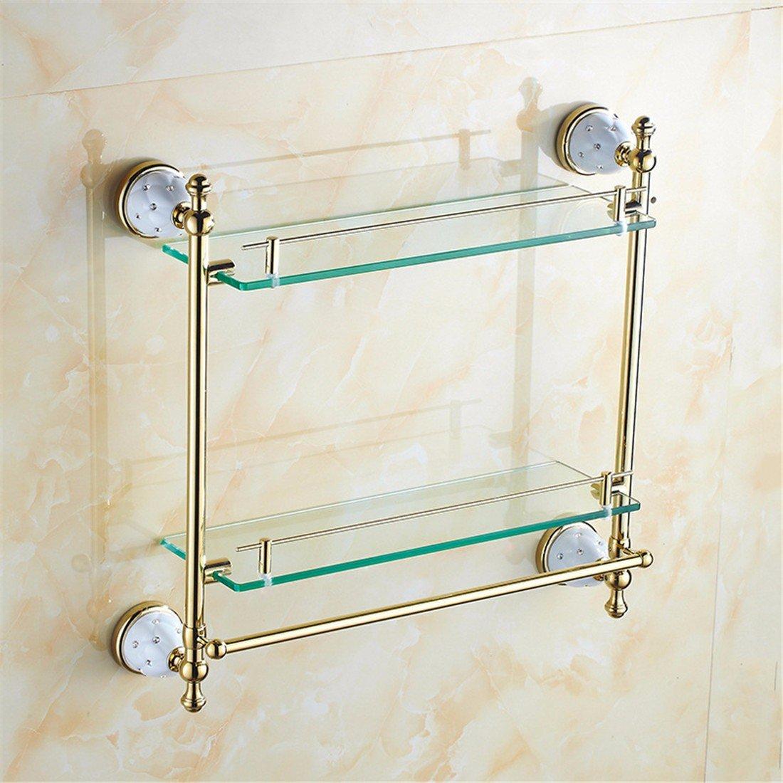 LAONA European golden DIAMOND ANTIQUE bathroom accessories set stainless steel soap box single and double rod,Rack 2
