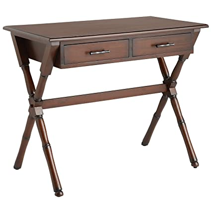Etonnant Pier 1 Imports Home Office Writing Desk Natural Mahogany Brown