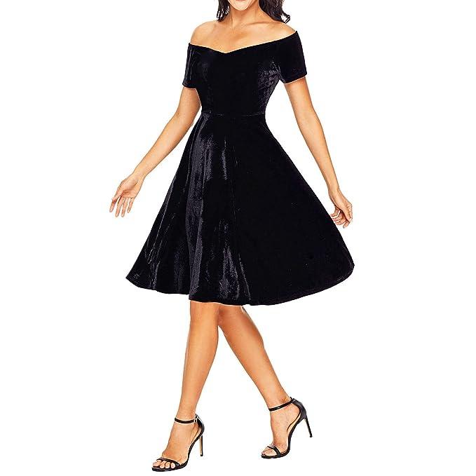 Toocool - Vestito Donna Abito Miniabito Velluto Skater Elegante Cerimonia  Nuovo DL-2211  Amazon.it  Abbigliamento ca5bbe46c74