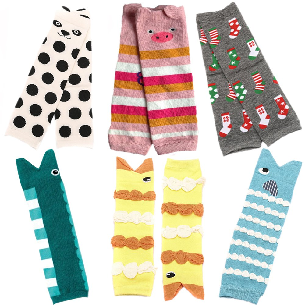 Sept.Filles Baby and Toddler Leg Warmers 3.15'' x 11.8'' Packs of 6 SOCK-26A