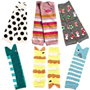 Sept.Filles Baby and Toddler Leg Warmers 3.15'' x 11.8'' Packs of 6(A)