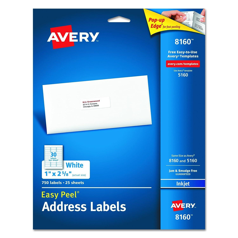 Amazon.com: Avery Easy Peel Address Labels for Inkjet Printers, 1 ...