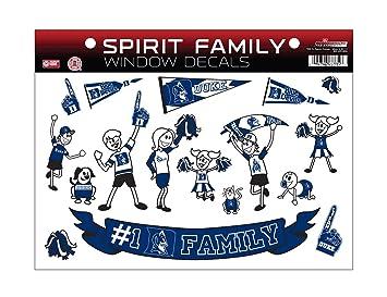 Amazoncom  NCAA Duke Blue Devils Spirit Family Window Decals - Window decals for sports