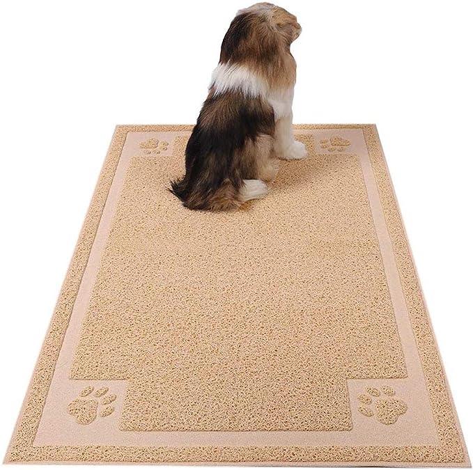 Dog Food Mat Durable Cat Litter Box Mat Asian Red Circles No Mess Mat Waterproof Pet Mat Choose Your Size Designer Non Skid Dog Mat