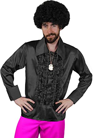 I LOVE FANCY DRESS LTD Camisa DE Disco Negra para Adulto Estilo AÑOS 70S Fiestas TEMATICAS O Carnaval (XXL): Amazon.es: Juguetes y juegos