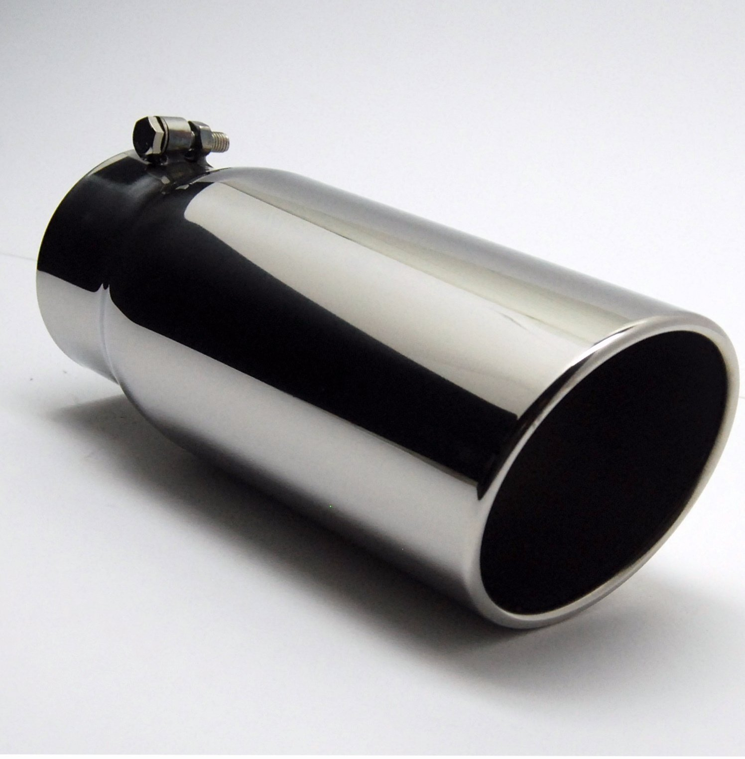 Diesel Exhaust Tip Stainless Steel 6.00 Dia X 12 inches Long 5 Inch Inlet Wesdon Exhaust Tip