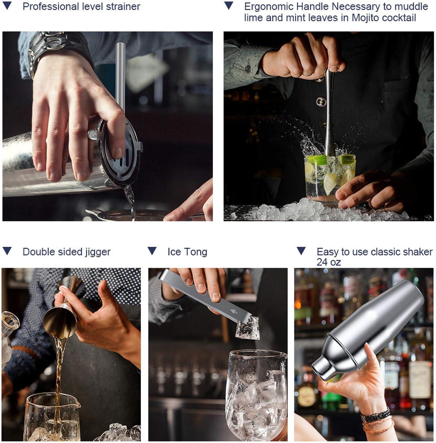 Coctelera de acero inoxidable 304 juego de herramientas de ...