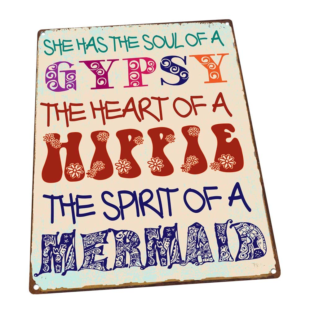 Gypsy Soul Metal Sign, Boho, Yoga, Positive Living, Good Vibes