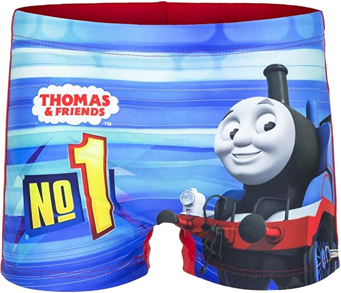 Licensed Boys Thomas and Friends Swimming Shorts Swim Boxer Short Trunks