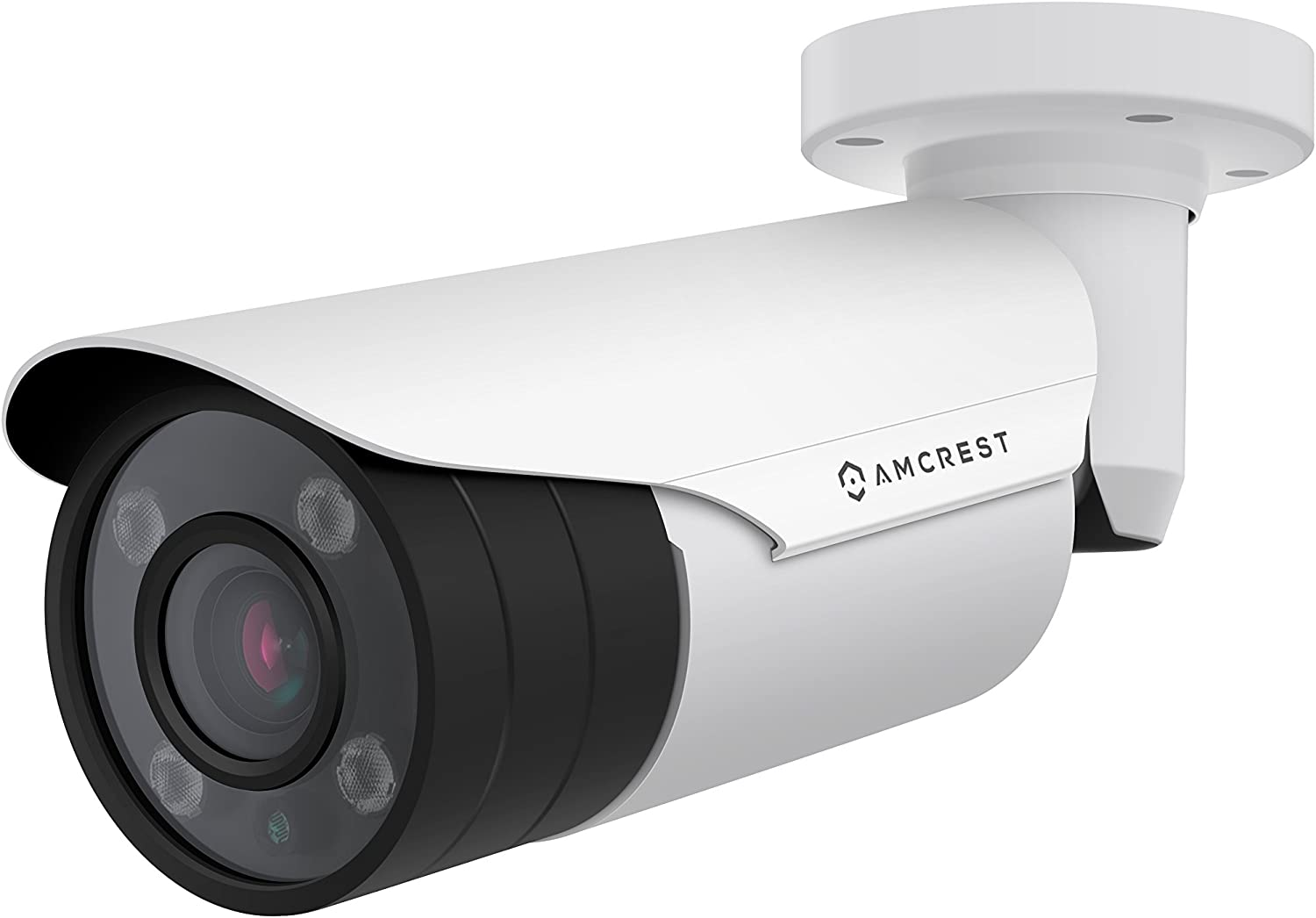 Amcrest 4xOptical Zoom HD 1080P 1920TVL Bullet Outdoor Security Camera Quadbrid 4-in-1 HD-CVI TVI AHD Analog , 2MP 1920×1080, 164ft NightVision, Motorized Varifocal Lens 40 -90 , White AF-2MBC-VARIW