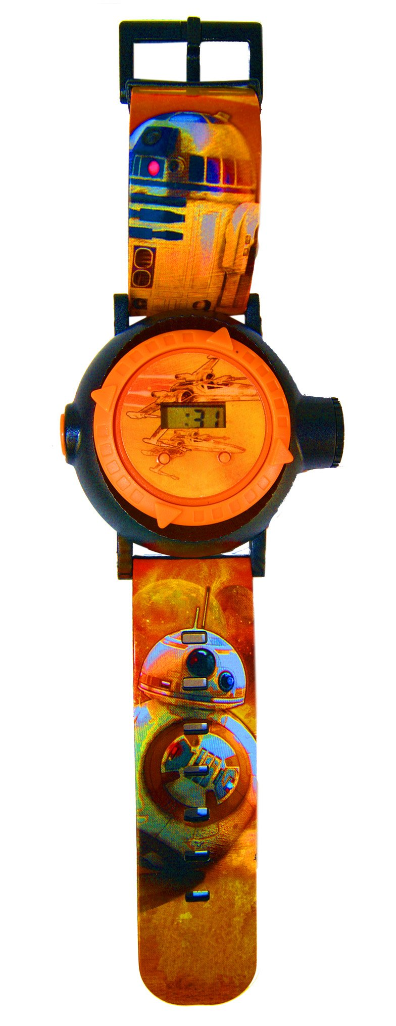 Star, Wars Watch With Projector, Children Digital Watch,Officially Licensed,Projection Watch