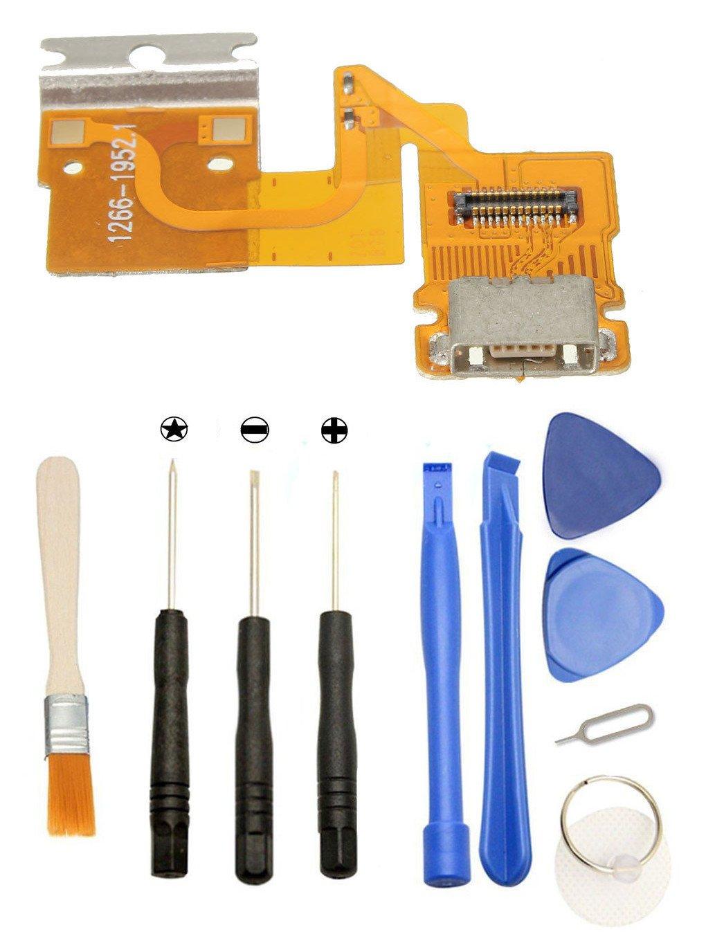 Games&Tech USB Charging Port Connector Flex Cable + Tools for Sony Xperia Tablet Z 3G SGP341 SGP311 SGP312 SGP321 SGP351