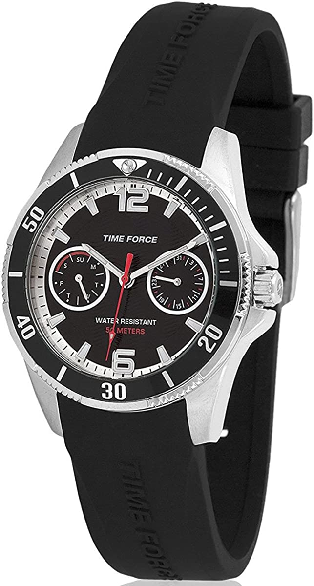 TIME FORCE TF-4110B01 Reloj para Chico, con Calendario