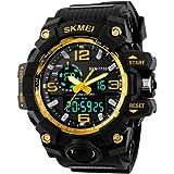 E-future SKMEI Men's 50M Dive Waterproof Sport Military Analogue Digital Multifunctional Watch