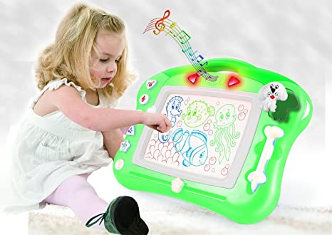 Toys For Boys To Color : Amazon.com: magnetic drawing board for kids 4 color zone erasable