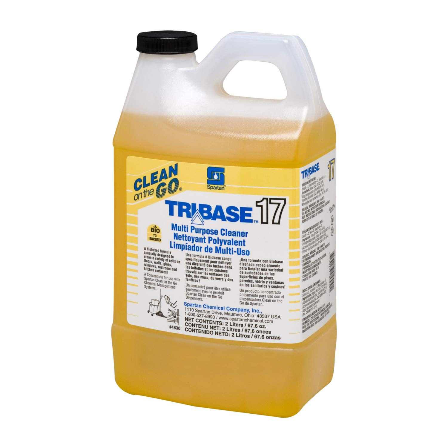 TriBase Multi Purpose Cleaner 17 Clean On The Go Dispensed # 483002, 4-2Liter -(1 CASE) by Spartan Chemical
