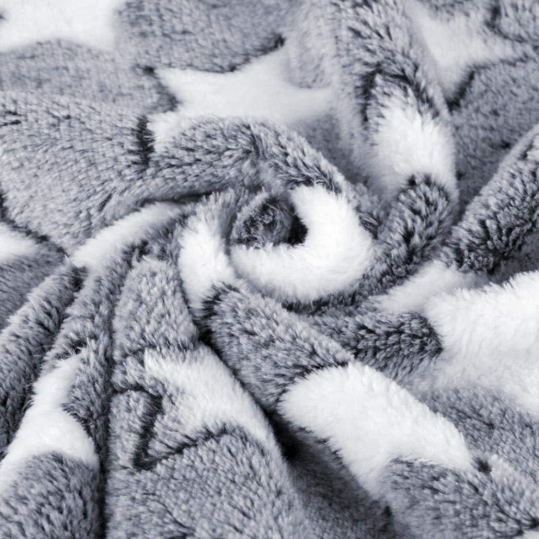 Mantas Alfombra para Mascotas Estampado de Estrellas Transpirables Rect/ángulo Perro para Mascotas Cachorro Manta para Dormir Estera para Colch/ón Coj/ín Azul Claro S
