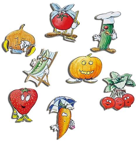 verduras frigorífico Imanes - 8 unidades de frutas y ...