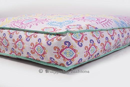 Indian Cojín de suelo (cuadrado, Cover Ombre Boho Mandala ...