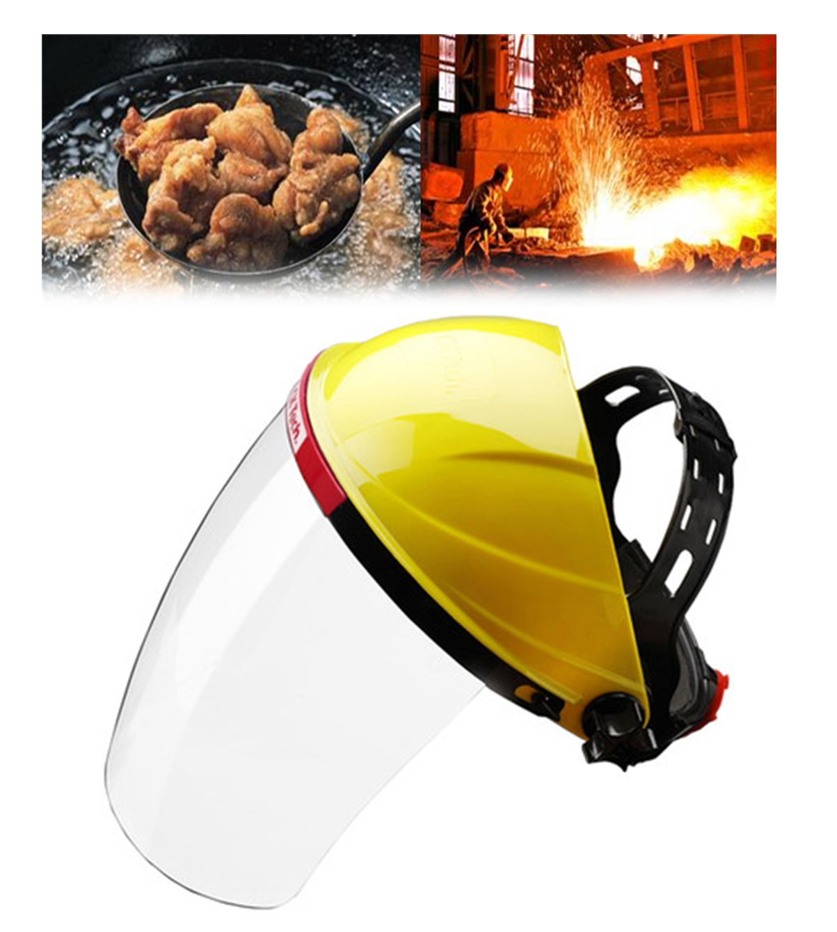 Ideal For Gardening Cooking Oil Splashing Adjustable Clear Face Mask Shield Visor Safety Workwear Eye Protection