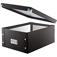 Snap-N-Store Double Wide CD Storage Box, Black (SNS01658)