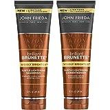 John Frieda Brilliant Brunette Visibly Brighter Bundle: Subtle Lightening Shampoo & Conditioner, 8.3 OunceEach