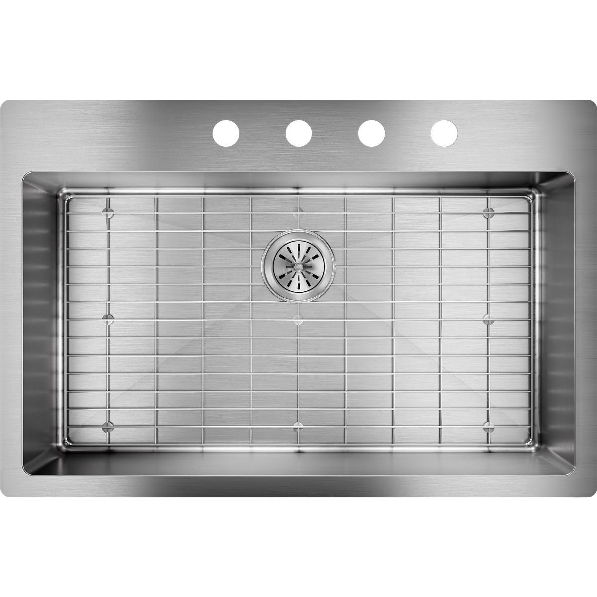Elkay Crosstown ECTSRS33229TBG4 Single Bowl Dual Mount Stainless Steel Kitchen Sink Kit