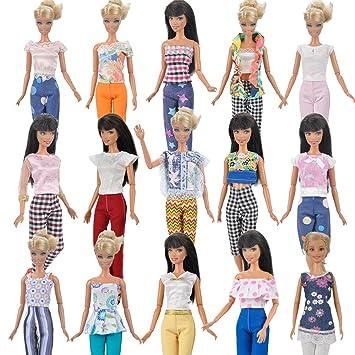 Amazon.es: E-TING 7 sets = 14 artículos 7 ropa traje 7 pantalones ...