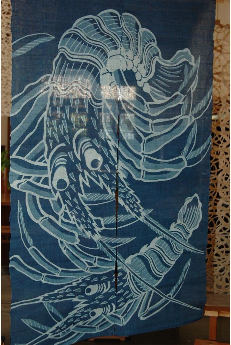 Japanese Noren, WE1130 , lobster, linen door way curtain