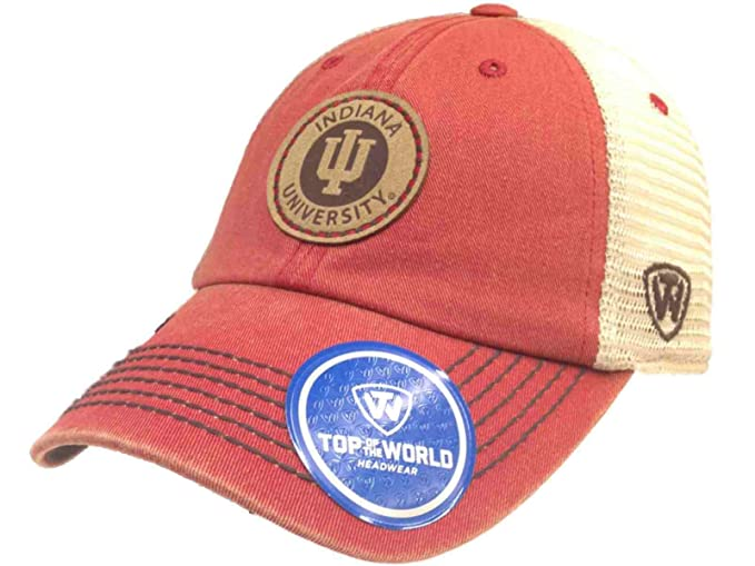 pretty nice 29fd8 bb77a Amazon.com   Top of the World Indiana Hoosiers Tow Red Outlander Mesh Adjustable  Snapback Slouch Hat Cap   Sports   Outdoors