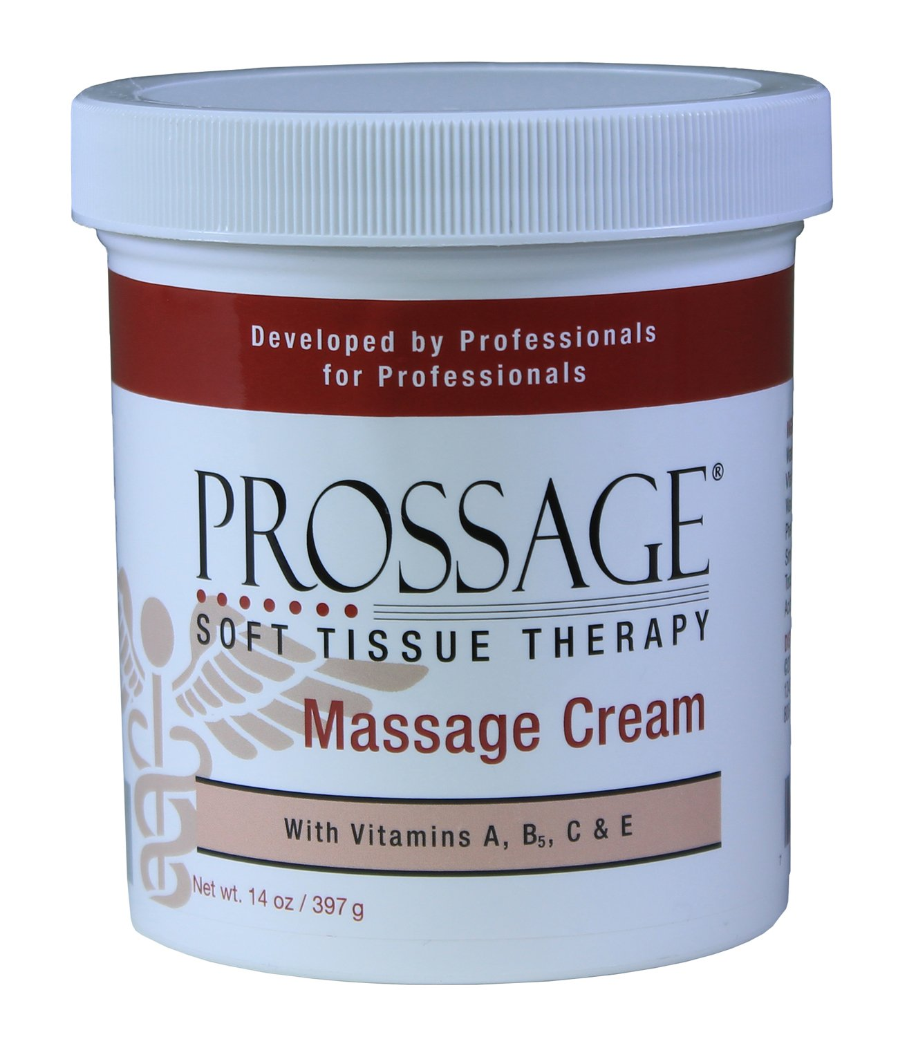 Prossage Heat Warming Relief Massage Cream for Deep Tissue Massage and Therapeutic Massage, Topical Pain Reliever for Soft Tissue Mobilization, Muscle and Joint Pain Relief, 14 Ounce Jar (Pack of 6)