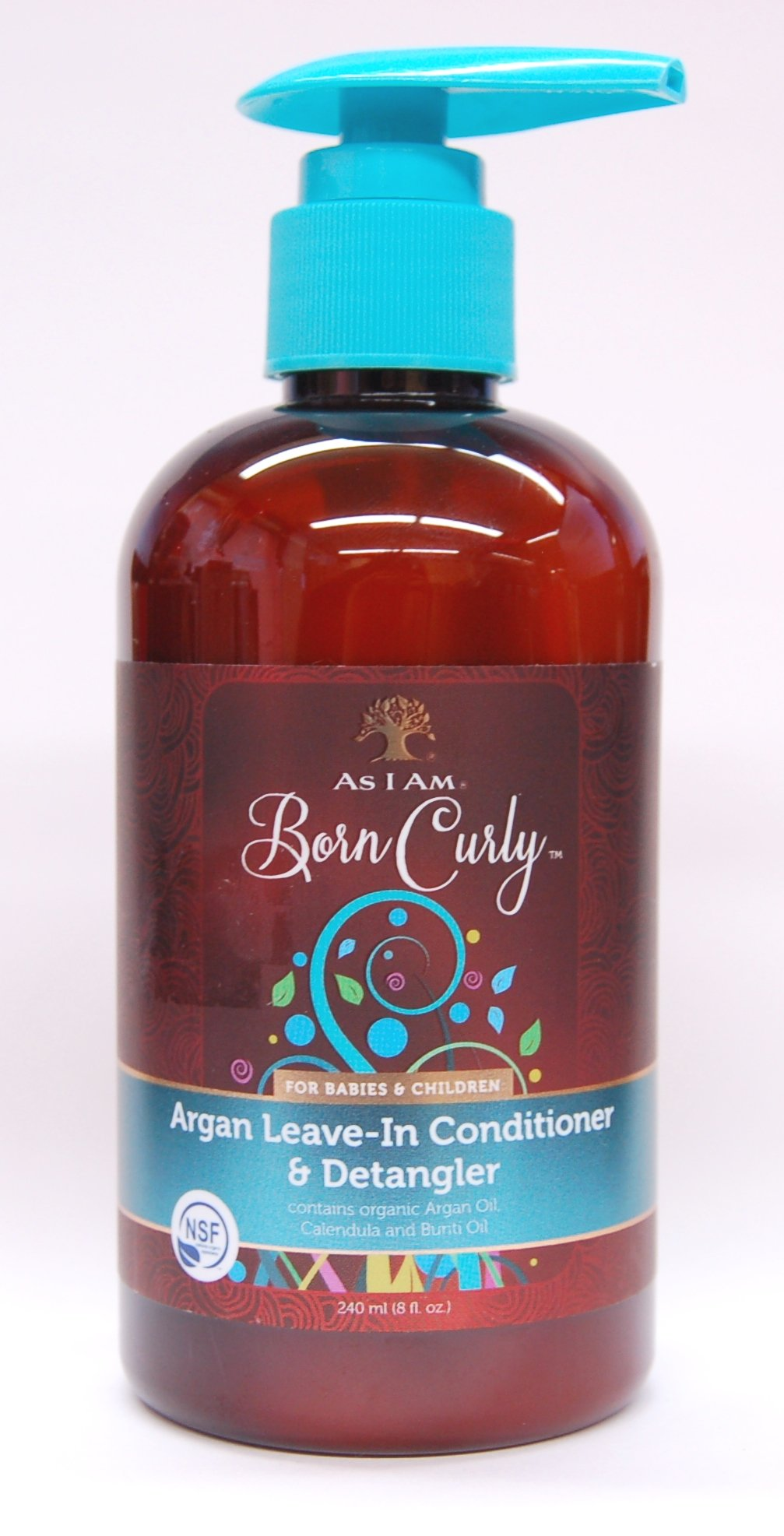 As I Am Born Curly Argan Organic Leave-In Conditioner & Detangler - 8oz