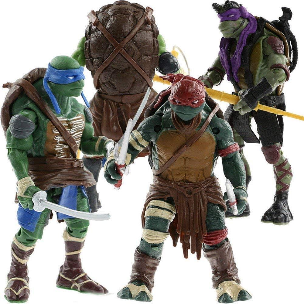4Pcs//Set Teenage Mutant Ninja Turtles Action Figures Toy TMNT Kid Birthday Gift