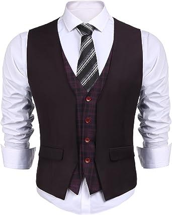 COOFANDY - Chaleco para hombre, estilo informal, ajustado, a ...