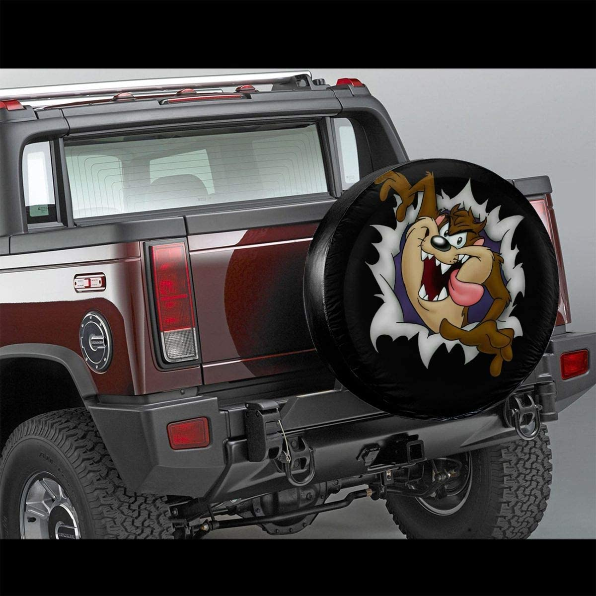 14,15,16,17 Inch fsfsdafsa Looney Tunes Tasmanian Devil Taz Potable Polyester Universal Spare Wheel Tire Cover Wheel Covers for Jeep Trailer RV SUV Truck Travel Trailer Accessories